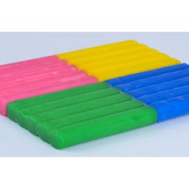 Les Jouets Libres: Bijenwas klei Blauw, Roze, Groen, Geel