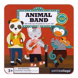 Petit Collage - Magnetic Play Set: Animal Band