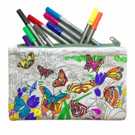 Eatsleepdoodle - Etui Butterfly  met stiften