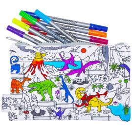 Eatsleepdoodle - Etui Dinosaur met stiften