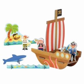 Petit Collage - Pop-out: 3D Piratenschip