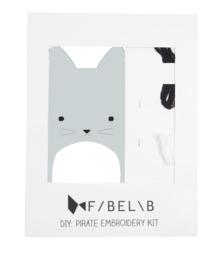 Fabelab - Dieren borduur set Cat