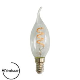 E14 LED Lamp dimbaar | vlam | helder | 4W