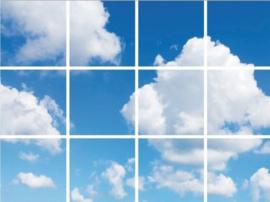 Wolkenplafond | Fotoprint | 12 panelen | 60x60 cm