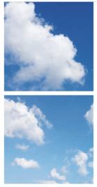 Wolkenplafond | Fotoprint | 2 panelen | 60x60 cm
