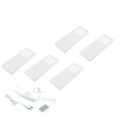 Keukenverlichting dimbaar HERA Slim Pad F wit set van 5