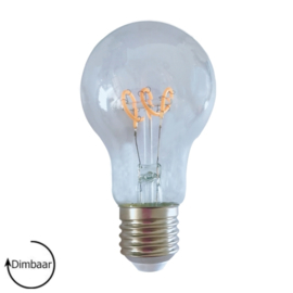 LED Lamp E27 | dimbaar | Peer | Helder | 4W | 2200K | extra warm wit | Ø60mm