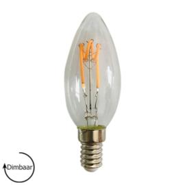 LED Lamp E14 | dimbaar | Kaars | Helder | 4W | 2100K | extra warm wit