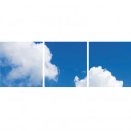 Wolkenplafond | Fotoprint | 3 panelen | 60x60 cm