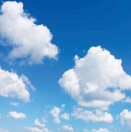 Wolkenplafond | Fotoprint | 1 paneel | 60x60 cm