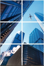 Wolkenkrabber plafond panelen