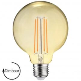 E27 LED Lamp dimbaar | Globe-L | amber | 6,5W | 2700K