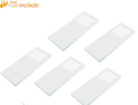 Keukenverlichting | HERA Slim Pad F wit | set van 5