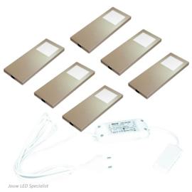 Keukenverlichting | HERA Slim Pad F RVS | set van 6