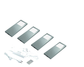 HERA Slim Pad F RVS | 4 keukenspots dynamisch
