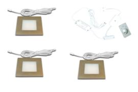HERA FQ-68 RVS | 3 inbouwspots dimbaar