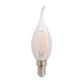 LED Lamp E14 | Vlam | Helder | 1,8W | 2200K | extra warm wit