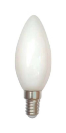 E14 LED Lamp | kaars | milky | 1,6W