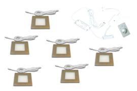 HERA FQ-68 RVS | 6 inbouwspots dimbaar