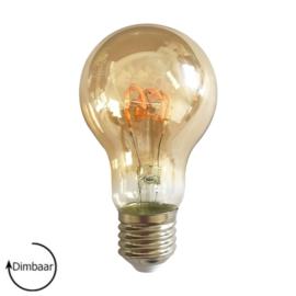 LED Lamp E27 | dimbaar | Peer | Amber | 4W | 2200K | extra warm wit | Ø60mm
