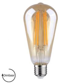 E27 LED Lamp dimbaar | Edison | amber | 6,5W | 2700K