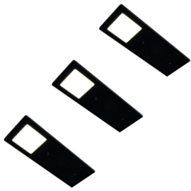 HERA ECO Pad F zwart | dimbare opbouwspots (3x)