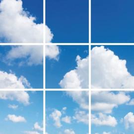 Wolkenplafond | Fotoprint | 9 panelen | 60x60 cm