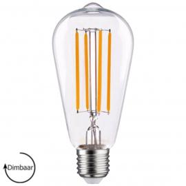 E27 LED Lamp dimbaar | Edison | helder | 6,5W | 2100K