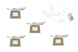 HERA FQ-68 RVS | 4 inbouwspots dimbaar