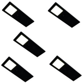 HERA ECO Pad F zwart | dimbare opbouwspots (5x)