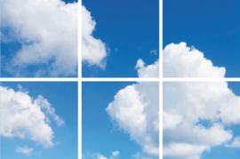 Wolkenplafond | Fotoprint | 6 panelen | 60x60 cm