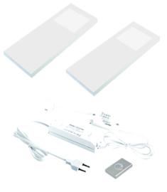 Keukenverlichting dimbaar HERA Slim Pad F wit set van 2
