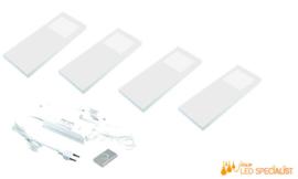 Keukenverlichting dimbaar HERA Slim Pad F wit set van 4