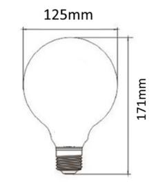 E27 LED Lamp dimbaar | Globe-L | helder | 4W | 2200K