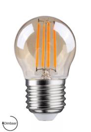 E27 LED Lamp dimbaar | kogel | amber | 4W