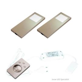 Keukenverlichting | HERA Slim Pad F | RVS | dimbaar