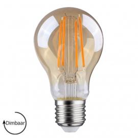 LED Lamp E27 | dimbaar | Peer | Amber | 6,5W | 2700K | extra warm wit | Ø60mm