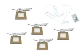 HERA FQ-68 RVS | 5 inbouwspots dimbaar
