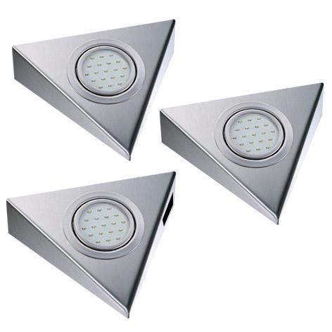 Keukenverlichting THEBO Triangle 1,5W set van 3 schakel