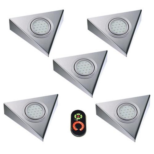 THEBO   Triangle   2,8W   5 keukenspots   remote