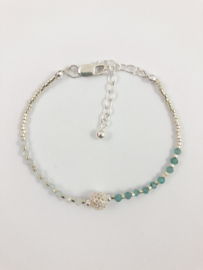 Armband zilver with stone