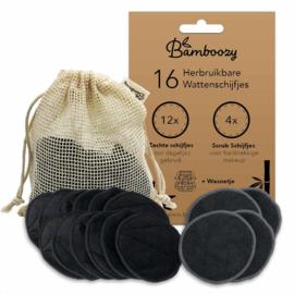Bamboozy 16 zwarte wattenschijfjes