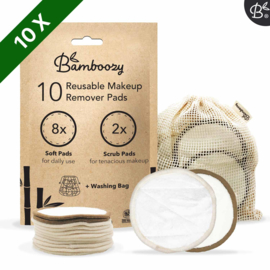 Bamboozy 10 witte wattenschijfjes