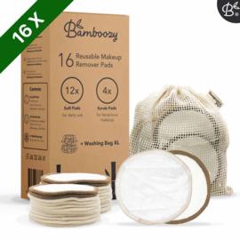 Bamboozy 16 witte wattenschijfjes