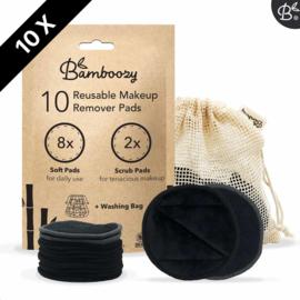 Bamboozy 10 zwarte wattenschijfjes