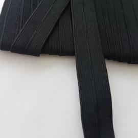 knoopsgaten elastiek zwart