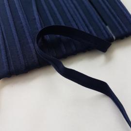 elastisch paspel donker blauw