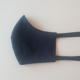 mondmasker ninja donkerblauw
