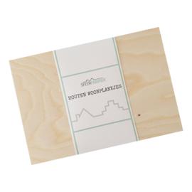 Houten woonplankje middel