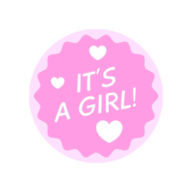 It's a girl sticker 2